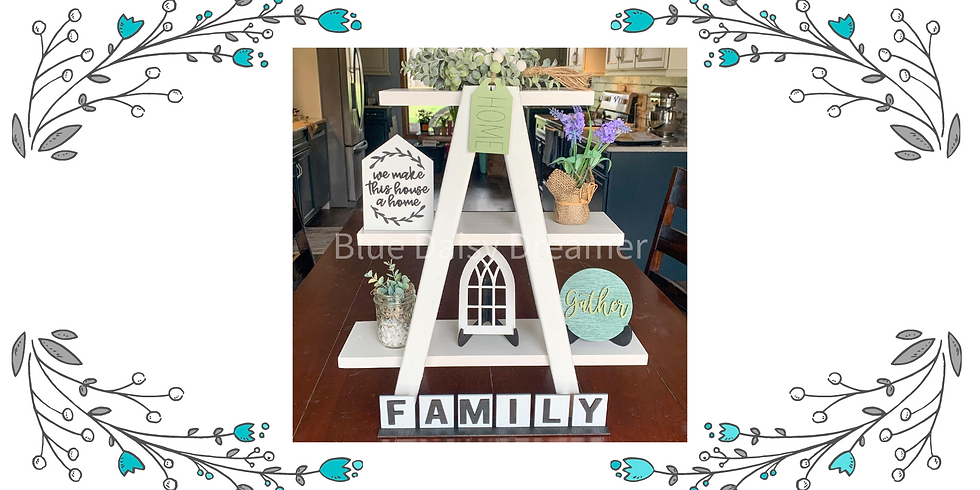 Tiered Ladder/accessories  - Friday, April 23rd @ 6 pm