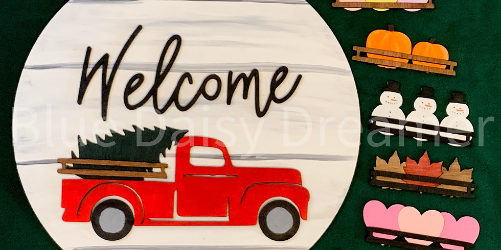 Red Truck Interchangeable Sign - Saturday, January 9th @ 2 PM