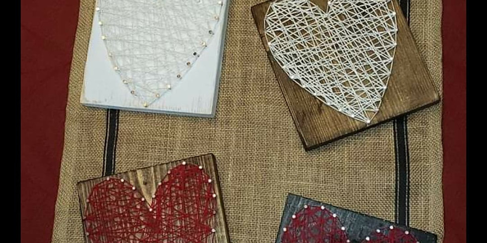 Valentine String Art for Adults Saturday, February 6th @ 4PM