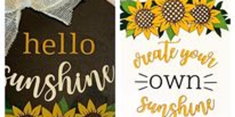 Sunflower Hanger  - Wednesday July 21 @ 6 pm