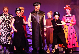 Act 2 Scene 8 - Mayor Amber Dame Biff Boff and Chief.JPG