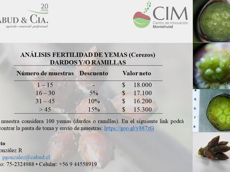 ANÁLISIS DE FERTILIDAD DE YEMAS