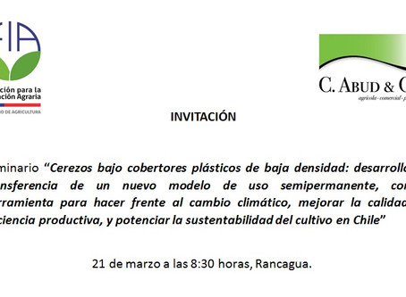 INVITACIÓN SEMINARIO CEREZAS