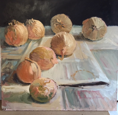 Onions on paper
