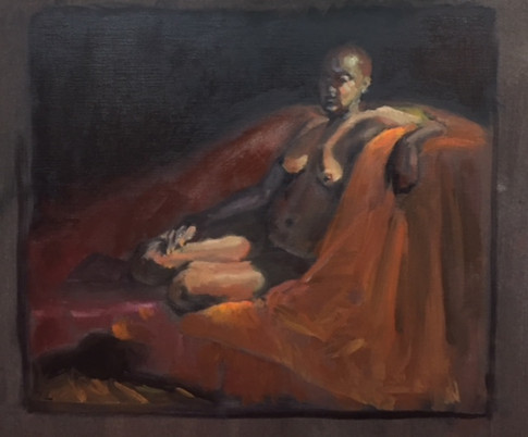 Girl on couch