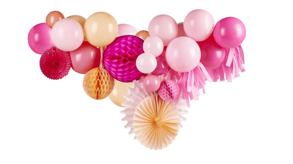 Balloon & Tassel Garland