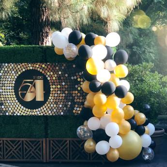 Studio 54 balloon installation
