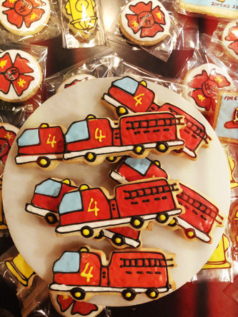 Fire and rescue party cookies