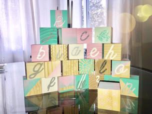 Baby shower Painted blocks