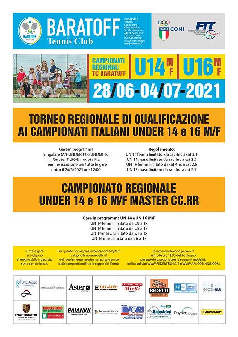 Campionati regionali under 14 e under 1