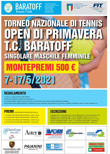 Tennis Club Baratoff - Torneo Open di Pr