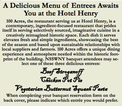 menu for hotel henry banquet