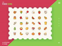 A set of cute food icons.jpg