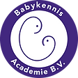 Logo BabyKennis Academy BV - 2021 - wit.
