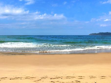 想い出の勝浦浜海岸。