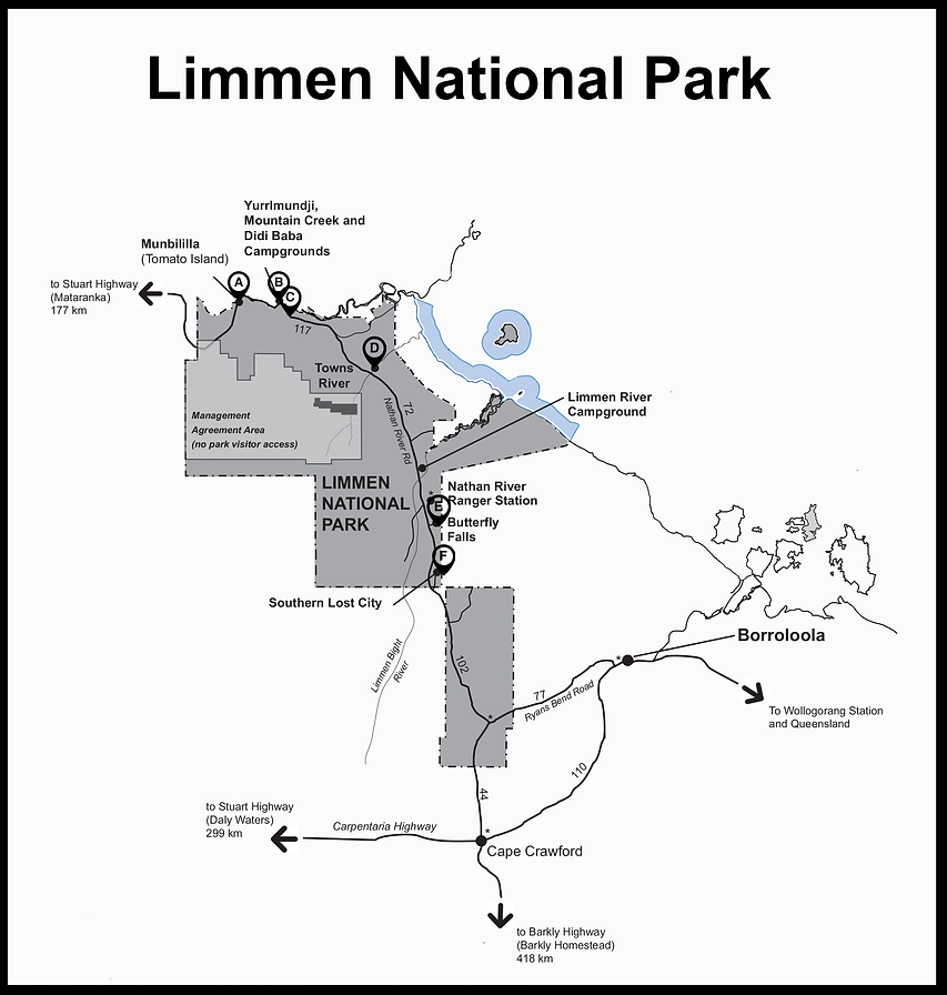 Limmen National Park with markers.png