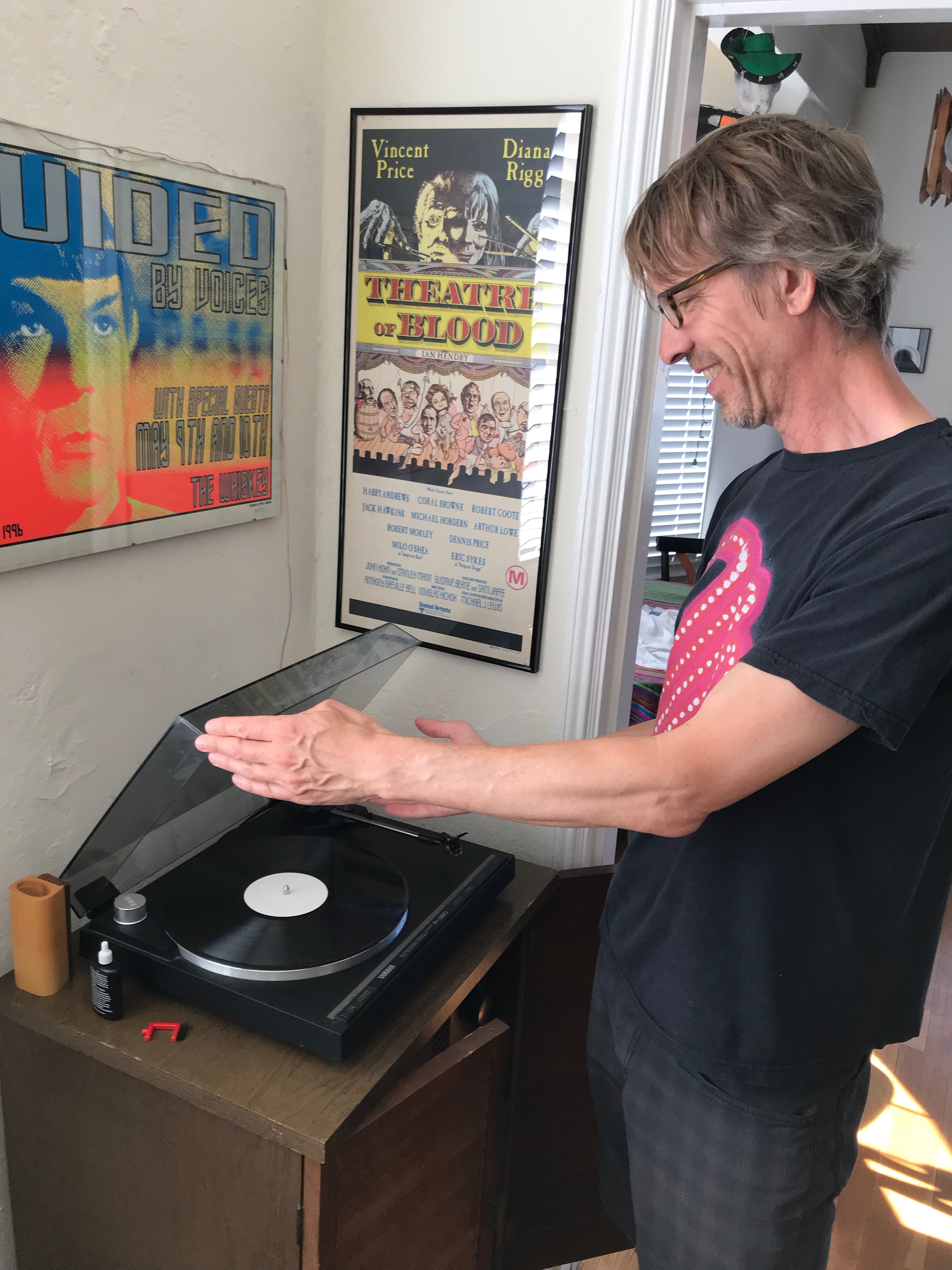 Dana putting on test pressing