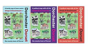 Graphic Design Sherborne Dorchester Town Map Design