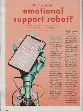 August 2019 Robot Therapy Article
