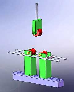 metal tube bend testing fixture