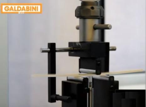Felxure Testing on a Galdabini Tensile Tester