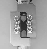 ASTM D7078 sample in fixture