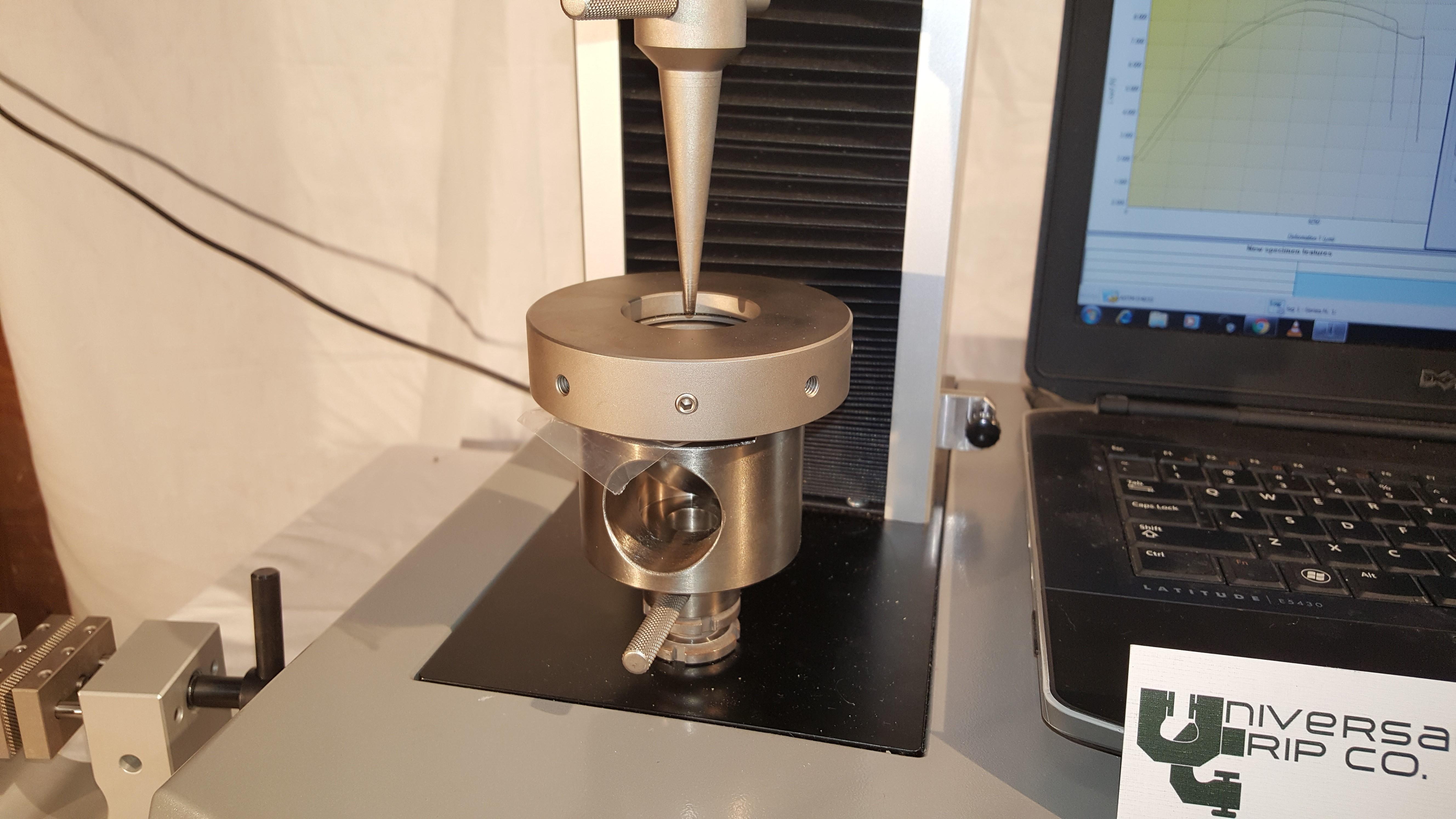 Puncture Testing Fixture for Plastics