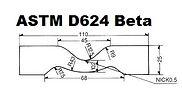 ASTM D624 Sample Cutting Die Type B