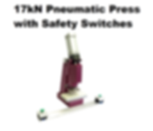 17kN Pneumatic Press with Safety Switches