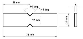 ASTM D5379 Specimen Dimensions