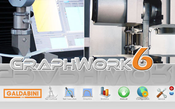 Graphwork 6 software for Galdabini material testing systems