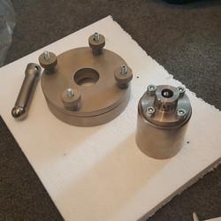 ASTm D6797 Ball Burst Puncture Fixture Closeup