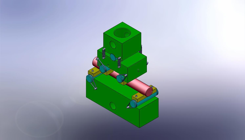 ASTM C1684 Ceramic Cylinder 4 pt. Bend Testing Fixture