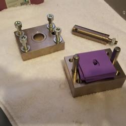 Disassembled ASTM D732 Shear Fixture