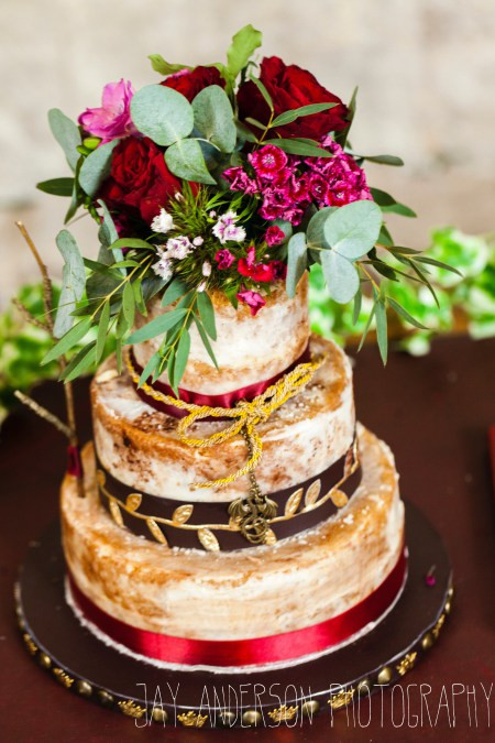 Game of Thrones inspired naked cake