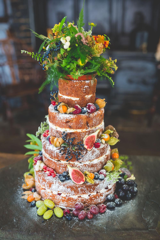 Autumn inspired wedding naked cake