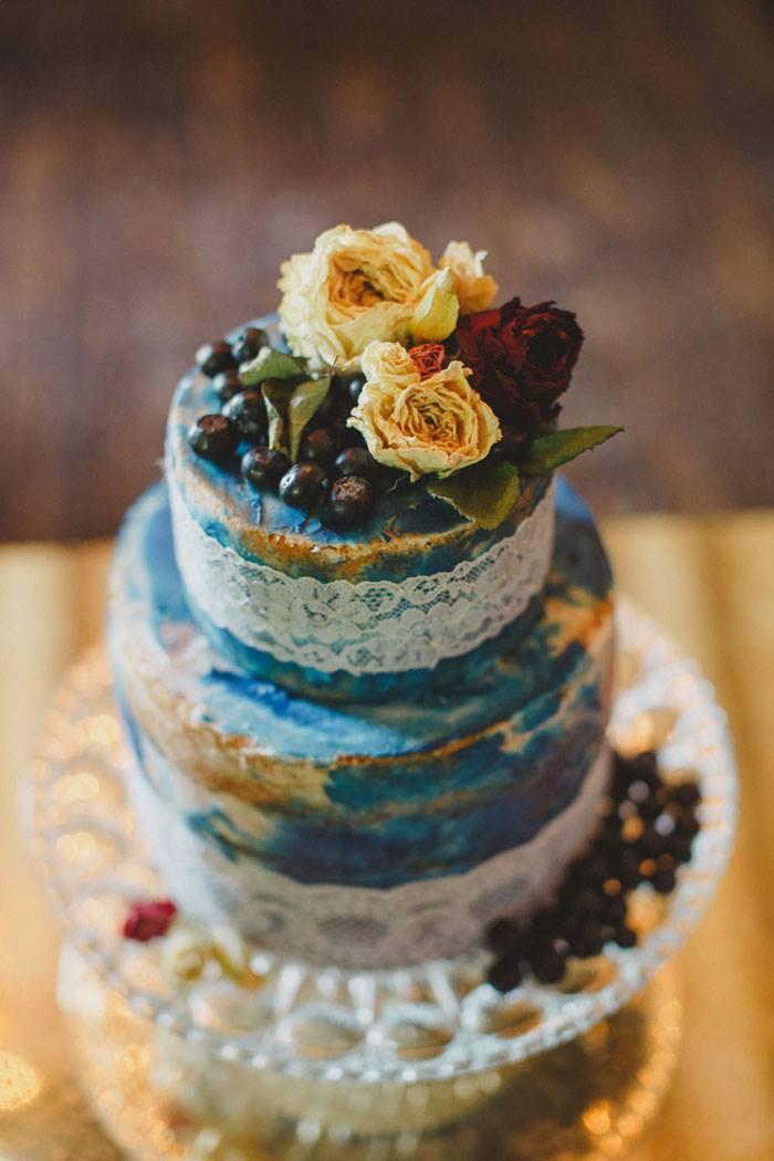 Tim Burton Corpse Bride blue semi naked wedding cake