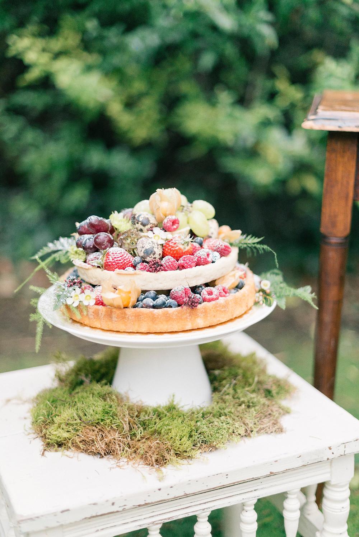 Spring inspired fruit tart