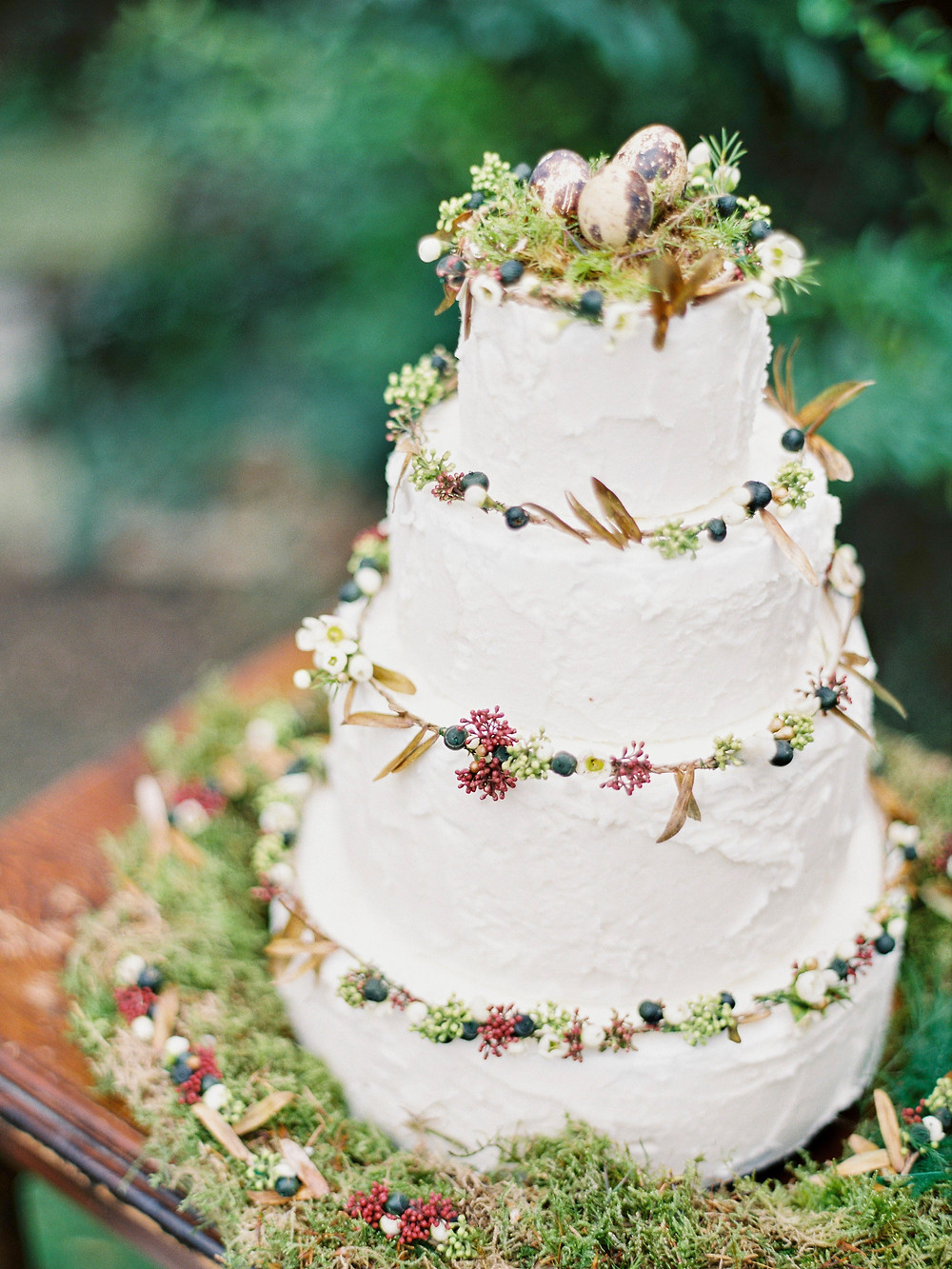 Easter inspired frosted wedding cake