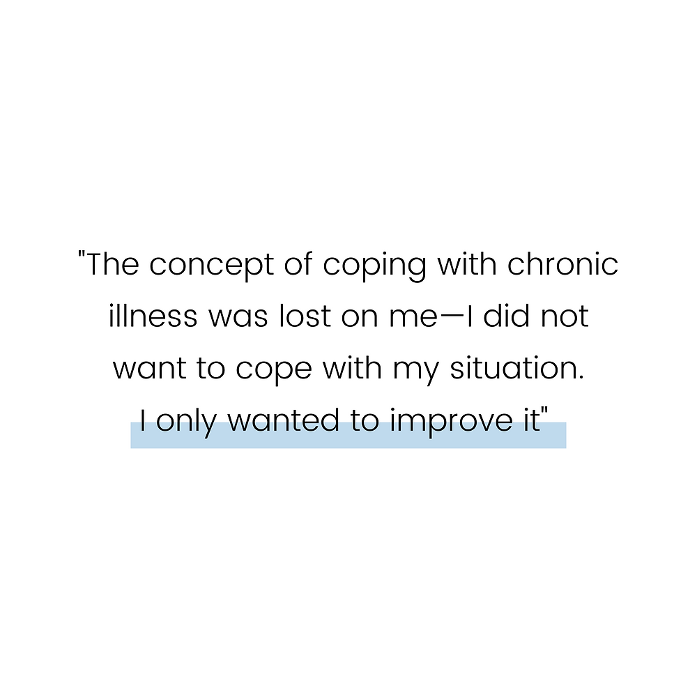 chronic illness recovery - coping with chronic illness - living with chronic illness