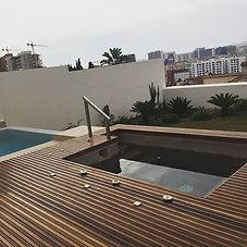 Jacuzzi par SFE piscines. Projet réalisé