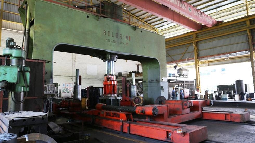Boldrini 800 Ton Dishing Press + Manipulator