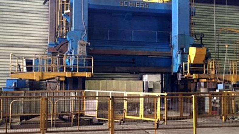 Schiess CNC Vertical Lathe Cap. 6000mm