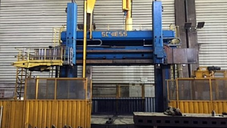 Schiess CNC Vertical Lathe Cap. 5400mm