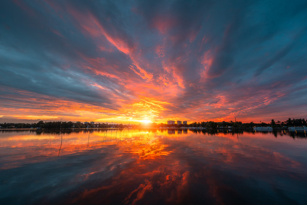 Havel on Fire, Havel River, Potsdam, Germany