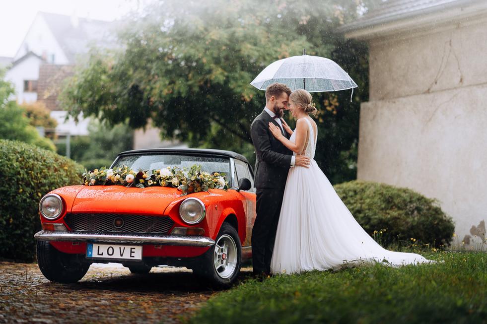 Love Red Car Rain