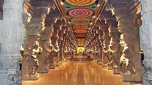 Le temple de Meenakshi à Madurai