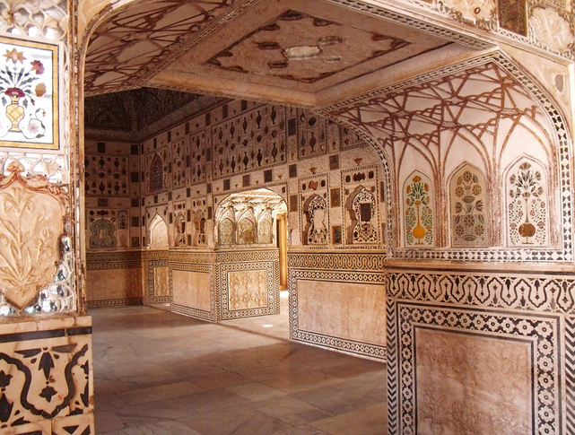 Salle des miroirs du Fort d'Amber