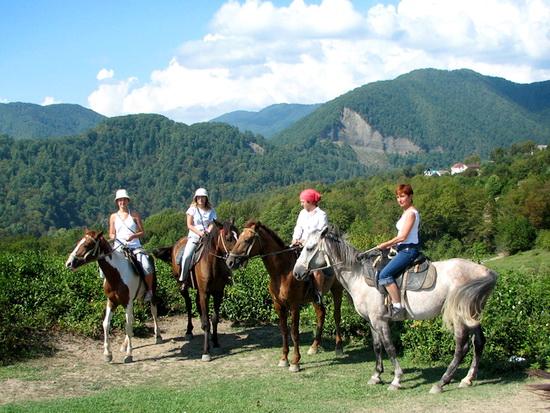 экскурсия верхом на лошадях