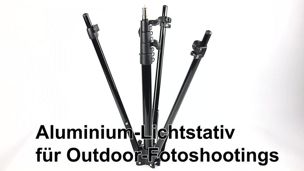 Aluminium-Leuchtenständer für Fotoshootings vor Ort